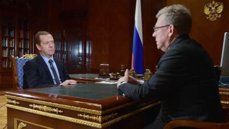 Медведев встретился с Кудриным